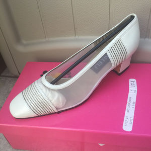 4 for $10 Vaneli Leather & Mesh Heels